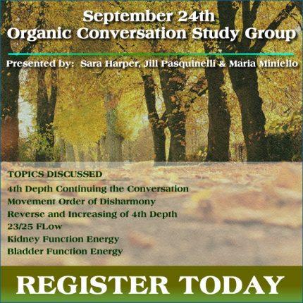 September 24th Organic Conversations