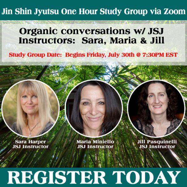 Organic Conversations with JSJ Instructors Sara Harper, Maria Miniello and Jill Pasquinelli.